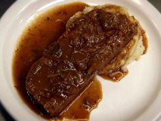 Get Fresh Cafe Meatloaf recipe from Diners, Drive-Ins and Dives via Food Network Veal Recipes, Meatloaf Recipes, Cooking Recipes, Dove Recipes, Renz, Supper Recipes, Beef Dishes, Restaurant Recipes, Copycat Recipes