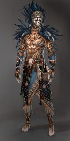 Guild Wars 2: Voodoo Male by ~YeeWu on deviantART