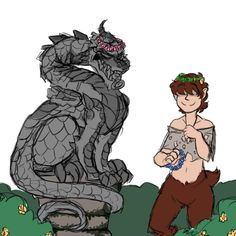 fnaf 2 jeremy and mike (mike is the dragon)
