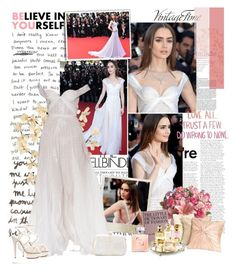 """Lily Collins"" by iced ❤ liked on Polyvore featuring Gwyneth Shoes, Tag, Polaroid, Hachette Book Group, Nordstrom, Chanel, Charlotte Olympia and Serpui"