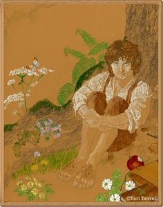 Once Upon A Hobbit: April 2010 - Frodo sitting under an oak tree