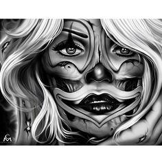 """Smile Now, Die Later"" Canvas by Black Market Art #InkedShop #art #canvas #decor"