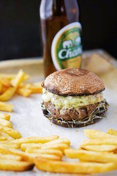 SoCal Guacamole Burgers on Portobello Mushroom Buns