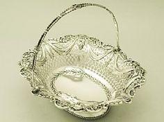 Sterling Silver Basket - Antique George V
