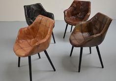 Best vintage lederen stoelen uitgevoerd in prachtig leder