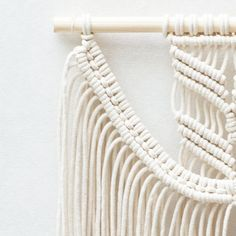Macrame Wall Hanging / Modern Macrame / Wall Art / by TeddyandWool