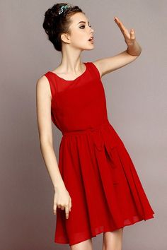 Red+Sleeveless+Plain+Polyester+Dress+CD0124+-+Color+:++++Red Material+:++++Polyester Sleeve+Length+:++++Sleeveless Silhouette+:++++Pleated Dress+Length+:++++Short Style+:++++Vintage Pattern+Type+:++++Plain Size+Available+:++++S+M+L Shouler(cm)+:++++S:34cm+M:36cm+L:38cm Bust(cm)+:++++S:80cm+M:84cm+L:88cm Waist+Size(cm)+:++++S:70cm+M:74cm+L:78cm Length+(cm)+:++++S:91+M:92cm+L:93cm