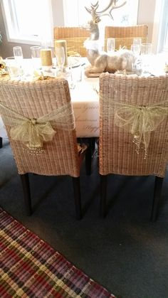 Bows on chairs I purchased at Dollar Tree years ago.     2016