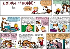 Calvin and Hobbes, January 24, 1988 - Do the rules say you CAN'T rob the bank? Huh? DO they? Just roll the dice and accept this as a tragic turn of events, ok?