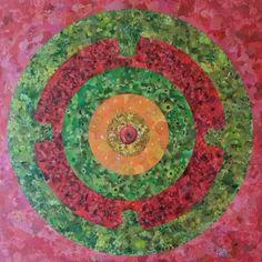 Mandala orgânica II - collage sobre MDF - 2014 - colagem de Silvio Alvarez - arte, art, collage, colagem, collage art, collage artist, paper, papel, revistas, recortes, sustentabilidade, reciclagem, reaproveitamento, arte ambiental, brazilian art, silvio Alvarez, surrealism, surrealismo, surreal, collagework, fruta, frutas, saudavel, alimentacao, vegano, vegana, saude, suco, maca, uvas, goiaba, melancia, banana