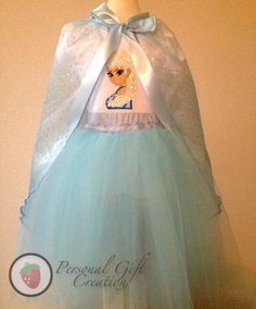 this is adorable! Frozen Princess Elsa outfit Birthday sewing tutu/skirt and shirt, cape sold separate