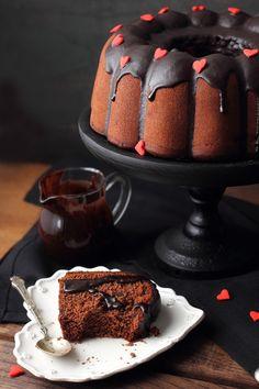 Bizcocho de chocolate de San Valentín de Kanela y Limón... | St Valentine's Chocolate Cake