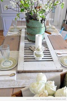 Idées déco table rustic-chic