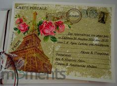 Carte postale προσκλητήριο γάμου