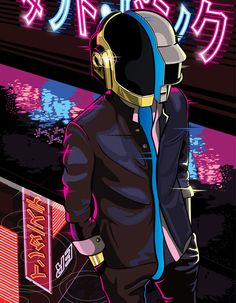 Daft Punk Tribute by Sam Ho for Gauntlet Gallery