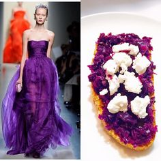 Adda's All – Fashion Food inspiruar nga Bottega Veneta – Brusketa me lakër të kuqe dhe djathë dhie të butë