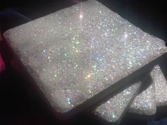 Tile Glitter Coasters Magical Iridescent Sparkly