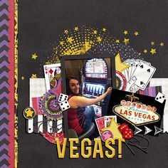 Vegas page using new #magic kit from peppermintcreative.com by @LaShawn Torres Torres Torres Castings