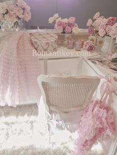 Cane chair Vintage prom dress Pastel beauties Romantic Home  Romantik evim Shabby chici duydunuz mu?
