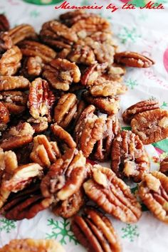 Candied-Pumpkin-Spice-Pecans-  Memories by the Mile