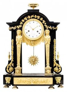 VERY FINE EARLY 19TH CENTURY MANTLE CLOCK