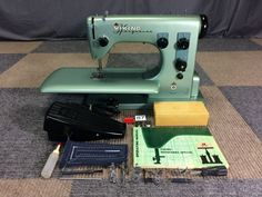 SERVICED WORKS PERFECT VINTAGE 1960s HUSQVARNA VIKING 19E SPECIAL SEWING MACHINE