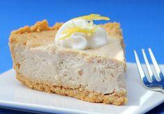 Saludable cheesecake de limón - comida sana