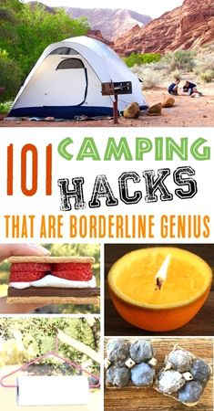 Camping hacks. When it relates to camping outside, much like anything else, there will always be some good guidelines and camping hacks which makes the trip a little easier, if not also down right more fun.