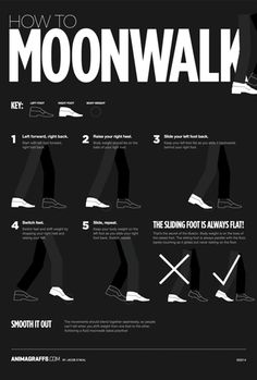 "fastcodesign: "" How To Moonwalk In 5 Easy Steps Because its never too late to learn! More> Co.Design """