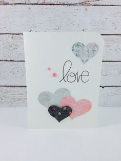 Love Valentine Greeting Card by DebbiesCutsAndCrafts on Etsy, $3.50