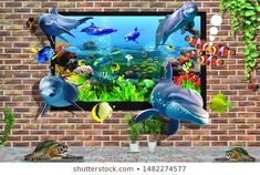 Funny Cartoon Black Cat Animal Pattern Fish Tank Background Aquarium Sticker Wallpaper Decoration Picture Pvc Adhesive Poster T H Home Aquarium Decor Backgrounds Backgrounds