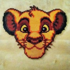 Simba, The Lion King Perler Bead Art by rachelsdreamland