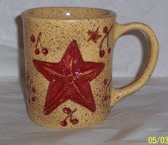 Etched star on coffee mug !!