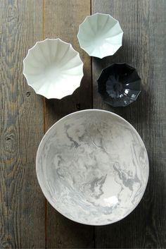 Simple Life Istanbul Ebru Ceramic Serving Bowl