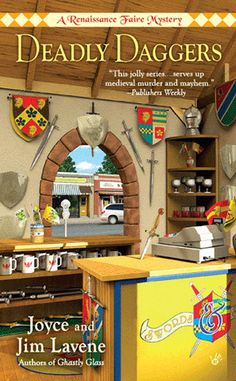 Renaissance Faire Mysteries  - Jessie apprentices with a sword maker in book three