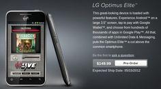 LG Optimus Elite available for pre-order at Virgin Mobile