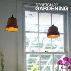 Make a Garden Pot into a Pendant Lamp | Garden Club