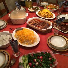 Delicious Persian food.