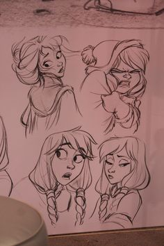 posts from a wannabe animator (amandajozeph: Frozen sketches at D23 by Jin Kim)