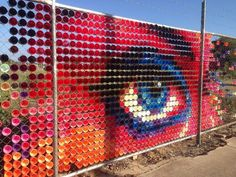 plastic cup mural - Google Search