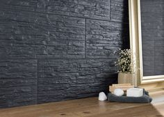 If your wall spaces are looking a little bare or uninteresting, inject some character by adding texture! Texture is a major design trend; smooth surfaces are out. It's all about creating textured, characterful expanses. Design Trends, Home And Garden, Textured Walls, Tiles, Splashback, Wall, Kitchen Wall, Black Tiles, Wall Spaces