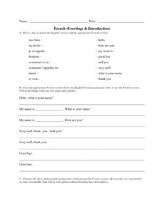 French greetings worksheet google search french greeting and french greetings worksheet google search m4hsunfo