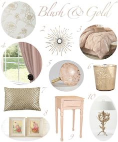 GUEST BEDROOM Blush And Gold Bedroom Decor And Then Black Furniture? Letu0027s  Just Hope My Hubby Feels The Same Way;