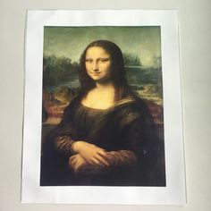 Mona Lisa portrait oil painting smile art canvas painting poster