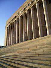 Eduskuntatalo, the main building of the Parliament of Finland (Eduskunta), #Helsinki