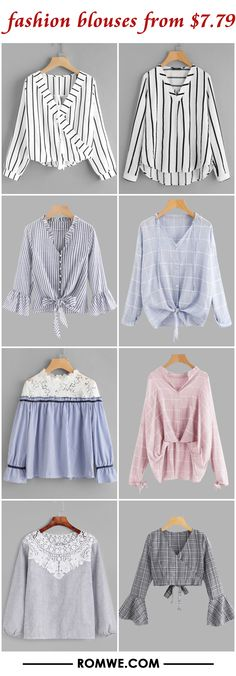 fashion blouses from $7.79