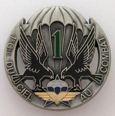 FRENCH PARATROOPERS - 1 RCP - 1st COMPANY BADGE - CHASSEURS PARACHUTISTES