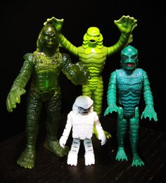 """Creatures from the Black Lagoon toys. See, here's where the geek/kid comes out. I would have LOVED these, or any monsters, when I was a kid. Never could get my hands on any monsters. I had one gorilla man I bought at Cudjo's Cave giftshop and he """"lived"""" in the uprooted tree roots of a tree that fell in our front yard. Of course my Barbies were afraid. loI I would love to have these even now!"""
