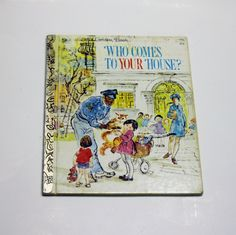 A Little Golden Book: Who Comes to Your House? (1973) - Children's Book, Story Book by MyForgottenTreasures on Etsy