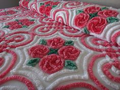 Rare and Exquisite Vintage Chenille Bedspread by ChenilleAmour